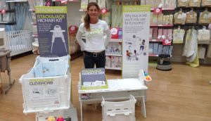 Emma Webb, founder of children's furniture company Stackajack: her products are now on sale