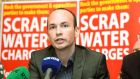 "An Irish Times/Ipsos MRBI poll showing that less half of households intend to pay the water charges has been described as ""disastrous"" news for the Government,  Socialist Party TD Paul Murphy has said. Photograph: Alan Betson/The Irish Times"
