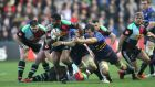 Harlequins' Aseli Tikoirotuma breaks against Leinster at the Stoop. Photograph: Andrew Fosker/Inpho