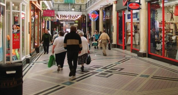 0f9abfc53 A Dublin shopping arcade. Men are expected to spend more than women this  Christmas,