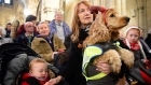 Christ Church Cathedral has hosted a blessing and carol service for over 100 dogs associated with Peata, the Pet Visiting Scheme in which volunteers and their dogs visit caring institutions and nursing homes. Video: Bryan O'Brien