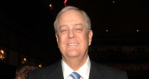 David Koch attends the 2011 New York City Opera Spring Gala at David H. Koch Theater, Lincoln Center.   Photograph: Marc Stamas/Getty Images