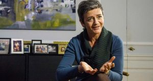 "EU competition commissioner Margrethe Vestager: ""We consider the Luxembourg leaks as market information. We will examine it and evaluate whether or not this will lead us to opening new cases."" Photographer: Freya Ingrid Morales/Bloomberg"