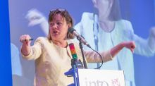 Sheila Nunan of INTO speaking at the union's annual conference at Lyrath Estate Hotel in Kilkenny. Photograph: Pat Moore