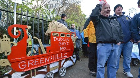 Santa is bringing free water to town. Photograph: Eric Luke/The Irish Times