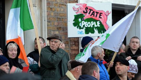 A colourful placard at the water charges protest.  Photograph: Eric Luke/The Irish Times
