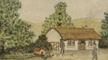 """Watercolour by Louis le Brocquy done at St Gerard's School, October 1930""  sold for €2,800"