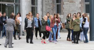 It was a good year for DIT. Above, students at DIT's Grangegorman campus. Photograph: Nick Bradshaw