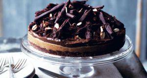 Jordan Burke's chocolate and nut butter tart