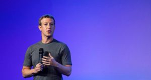 Mark Zuckerberg, chief executive officer of Facebook, speaks during the Internet.org summit in New Delhi, India. Photographer: Udit Kulshrestha/Bloomberg