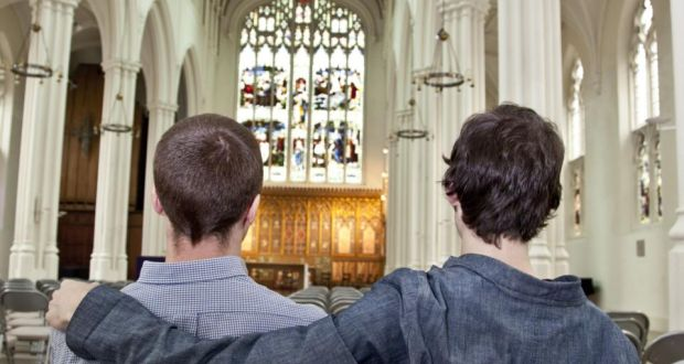 'Most of us don't go along with what the institution says. People know its balderdash,' says one participant at the All Are Welcome Mass. Stock photograph: Rex Features