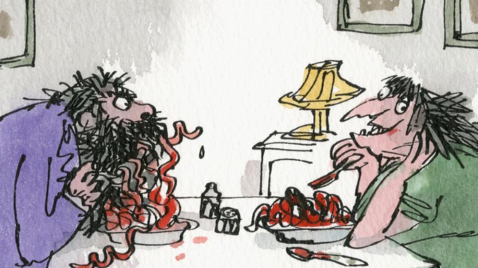 Edward Gorey illustration L IS FOR LEO Gashlycrumb Tinies macabre art print