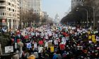 Demonstrators fill Pennsylvania Avenue as they march towards the US Capitol building during the national Justice For All march against police violence in Washington December 13th, 2014. Photograph: Reuters