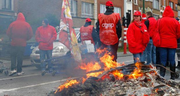 [Belgica] en huelga general contra las políticas capitalistas del gobierno Image