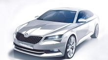 New Skoda Superb styling lines emerge ahead of launch