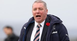 Ally McCoist has resigned as Rangers manager and has entered a 12-month notice period, the club have announced to the Stock Exchange.   Photograph: PA Wire.