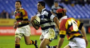 A youthful Isaac Boss (right) attempts to tackle Mils Muliaina during a 2001 NPC match between Auckland and Waikato. Thirteen years on they meet again at the RDS. Photograph: Michael Bradley/Getty Images.