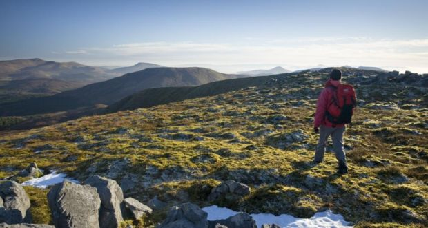 A hiker on summit of Slieve Carr, in the Nephin Beg Mountains 37e4e8bce0c