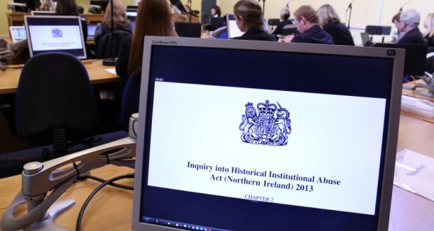 'The inquiry covers the period from the foundation of the Northern Irish state in 1922 to 1995.' Above, the opening session of the Historical Institutional Abuse Inquiry in Banbridge, Northern Ireland, on January 13th, 2014. Photograph: PAUL FAITH/AFP/Getty Images