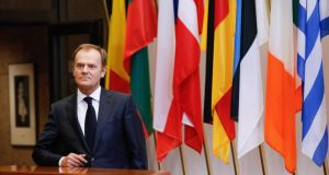 The summit  of EU leaders will be  the first under new European Council president Donald Tusk.  Photograph: Julien Warnand/EPA