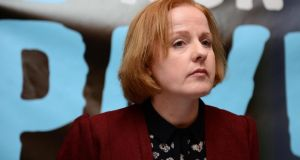 "Ruth Coppinger TD:  said it was ""absolutely ludicrous"" to suggest there was a consensus in the House against privatisation of water services. Photograph: Eric Luke/The Irish Times."