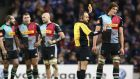 Charlie Matthews is sin-binning during Harlequins' 14-13 Champions Cup defeat to Leinster last Saturday