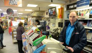 Michael Doyle at Spar on Strand Road, Portmarnock: 'If I had to be behind the counter myself, I probably wouldn't open.' Photograph: Dara Mac Dónaill