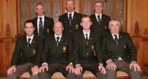 Ireland's recent gold medal-winning team at the Stillwater Bank Fly Fishing Championships at Chatton Lakes in Northumberland, England.
