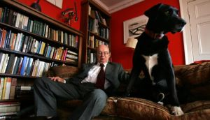 Echoes of the past: Anthony Cronin, photographed with his dog Butler in 2004. Photograph: Frank Miller