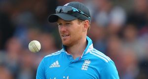 Former Ireland batsman Eoin Morgan is set to captain England at next year's World Cup after Alastair Cook was relieved of the captaincy. Photograph:    Dave Thompson/PA
