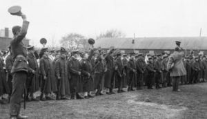 The 2nd Battalion, Royal Munster Fusiliers in Aldershot in 1914. Photograph: Imperial War Museum