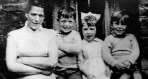 An undated handout photo of Jean McConville (left) with three of her 10 children. Photograph: PA Wire