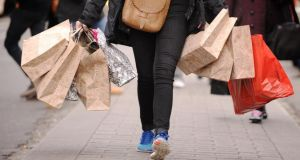Retail Ireland says figures suggest it will be retailers' best Christmas for five years. It has forecast a 2 per cent rise in the sales worth €80 million. Photograph: Dominic Lipinski/PA Wire