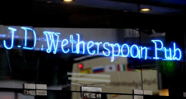 wetherspoon to spend 50 million on 30 new irish pubs