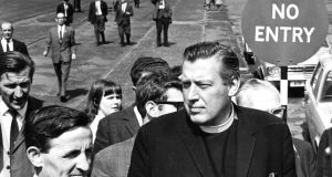 Rev Ian Paisley arriving at Stormont in August of 1969 to protest against the disarming of the Special Constabulary. Photograph: Jimmy McCormac