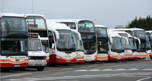 Bus Éireann will operate a Saturday service on New Year's Eve with all buses stopping at around 10pm. Photograph: Dara Mac Dónaill / The Irish Times
