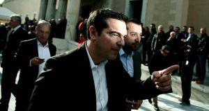 'How Syriza does, and what happens if it forms a government, will be closely watched by anti-austerity parties, including Sinn Féin and other left-wing parties here.' Above, Alexis Tsipras, opposition leader and head of Syriza party. Photograph: Alkis Konstantinidis/Reuters