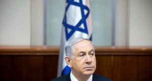 Israeli prime minister Benjamin Netanyahu. Palestinians have criticised the Israeli goverment for withholding tax revenue in response to the Palestinian move to join the International Criminal Court. Photograph: Oded Balilty/Reuters