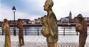 """You really would have to be talking about making jokes about Belsen and Auschwitz and the gas chambers to make it an equivocal thing in our lifetime,"" said Famine historian and author Tim Pat Coogan in response to the proposed sitcom. Photograph: The Irish Times"