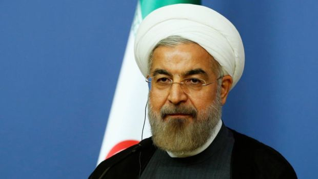 "Iranian president Hassan Rouhani. ""Our political life has shown we can't have sustainable growth while we are isolated"""