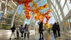 The Glasshouse at Chihuly Garden and Glass. Photograph: Chris Carmichael/NY Times