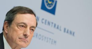 epa04544756 (FILE) A file photo dated 04 December 2014 showing Mario Draghi, president of the ECB, gave his strongest hint yet  on QE.