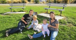 Adrienne Slattery with her partner Tim Shannon, their son Henry and daughter Isabella at a picnic at Lake Tekapo on New Zealand's South Island.