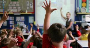 Primary schools began collecting the information for the Primary Online Database at the request of the Department of Education at the start of the current school year. Photograph: Dave Thompson/PA Wire