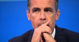 Mark Carney, governor of the Bank of England:  published  Bank of England  records on foot of a transparency drive. Photograph: Simon Dawson/Bloomberg