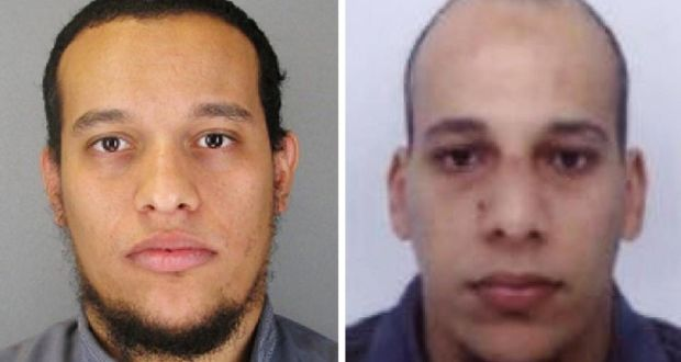 Undated Handout Photos Of Said Kouachi And Cherif The Two Prime Suspects In