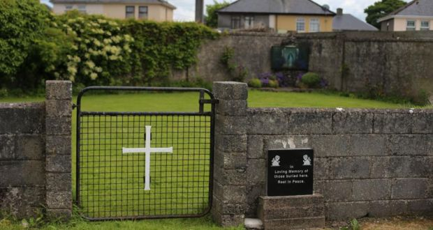 The site of a mass grave for children who died in the Tuam mother and baby home, Galway. Photograph: Niall Carson/PA Wire