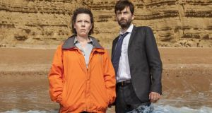 Death becomes them: Olivia Colman and David Tennant in 'Broadchurch'
