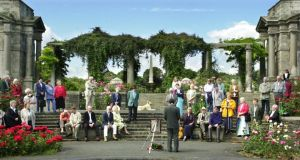 Members of the Inchicore Ledwidge Society during the poetry reading and wreath laying ceremony at the National War Memorial Gardens, Islandbridge in Dublin, in July 2003. Photograph: Cyril Byrne