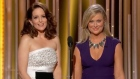 Highlights from Tina Fey and Amy Poehler's third stint as Golden Globes hosts, including jabs at comedian Bill Cosby and North Korea. Video: Reuters
